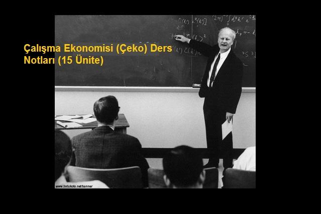 Çalışma Ekonomisi (Çeko) Ders Notları (15 Ünite)